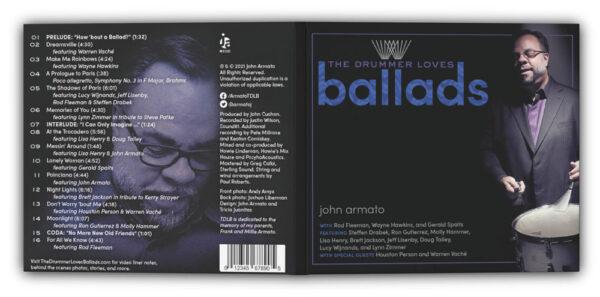 The Drummer Loves Ballads front back cover