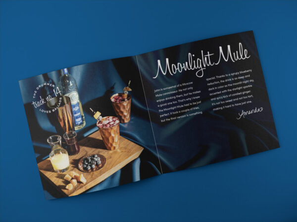 Cocktails and Jazz booklet spread